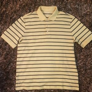 NEW Yellow Lands' End Polo T-Shirt
